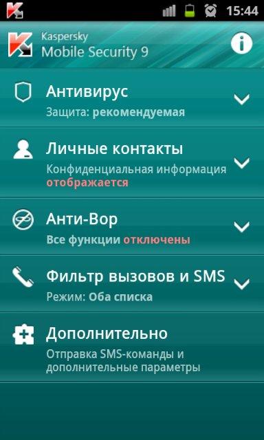 Скачать антивирус для смартфона, Kaspersky Mobile Security 9.0.2.50.