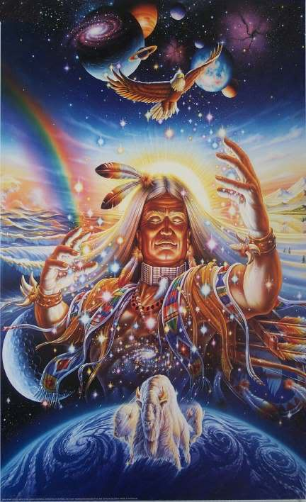 Давным-давно, когда мир еще был молод, старец-шаман из племени Лакота