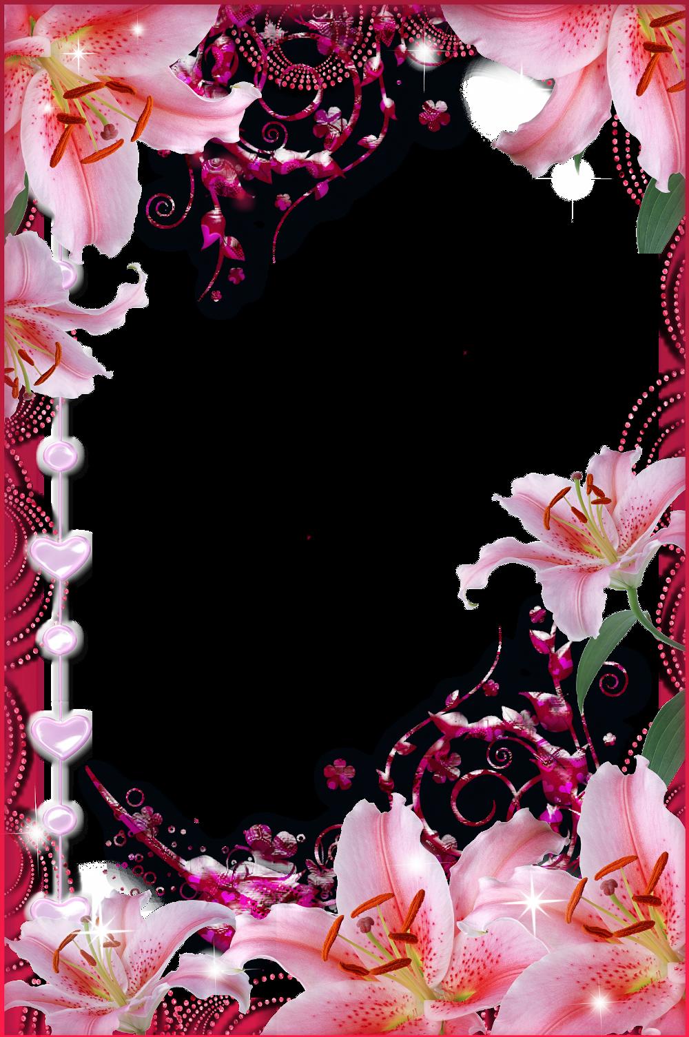 Фон с цветами для поздравления вертикальный