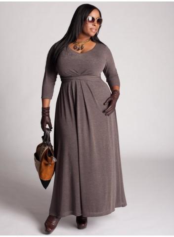 Нарядные и повседневные платья для полных женщин от Igigi.