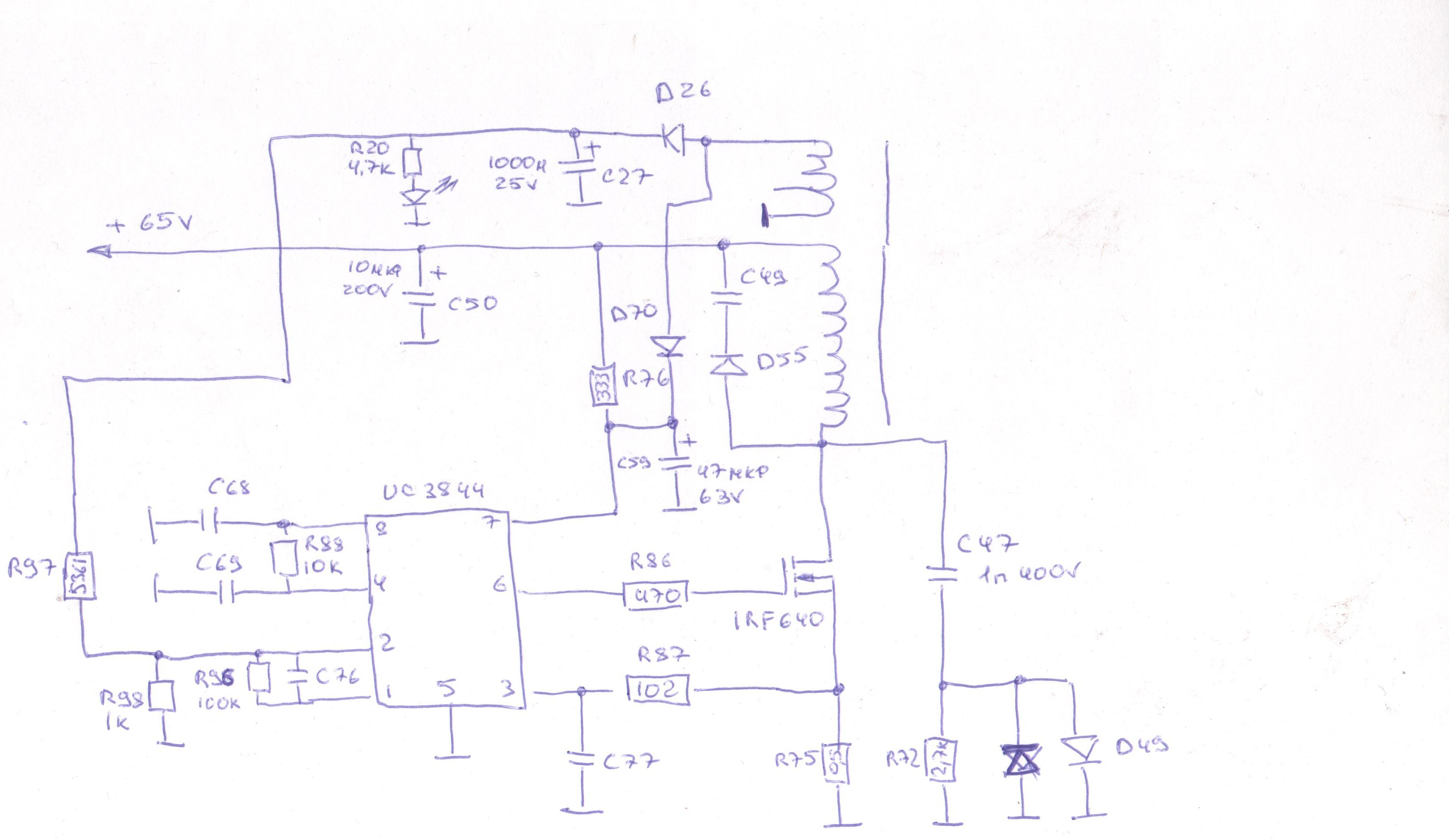 Схема блока питания на uc3844