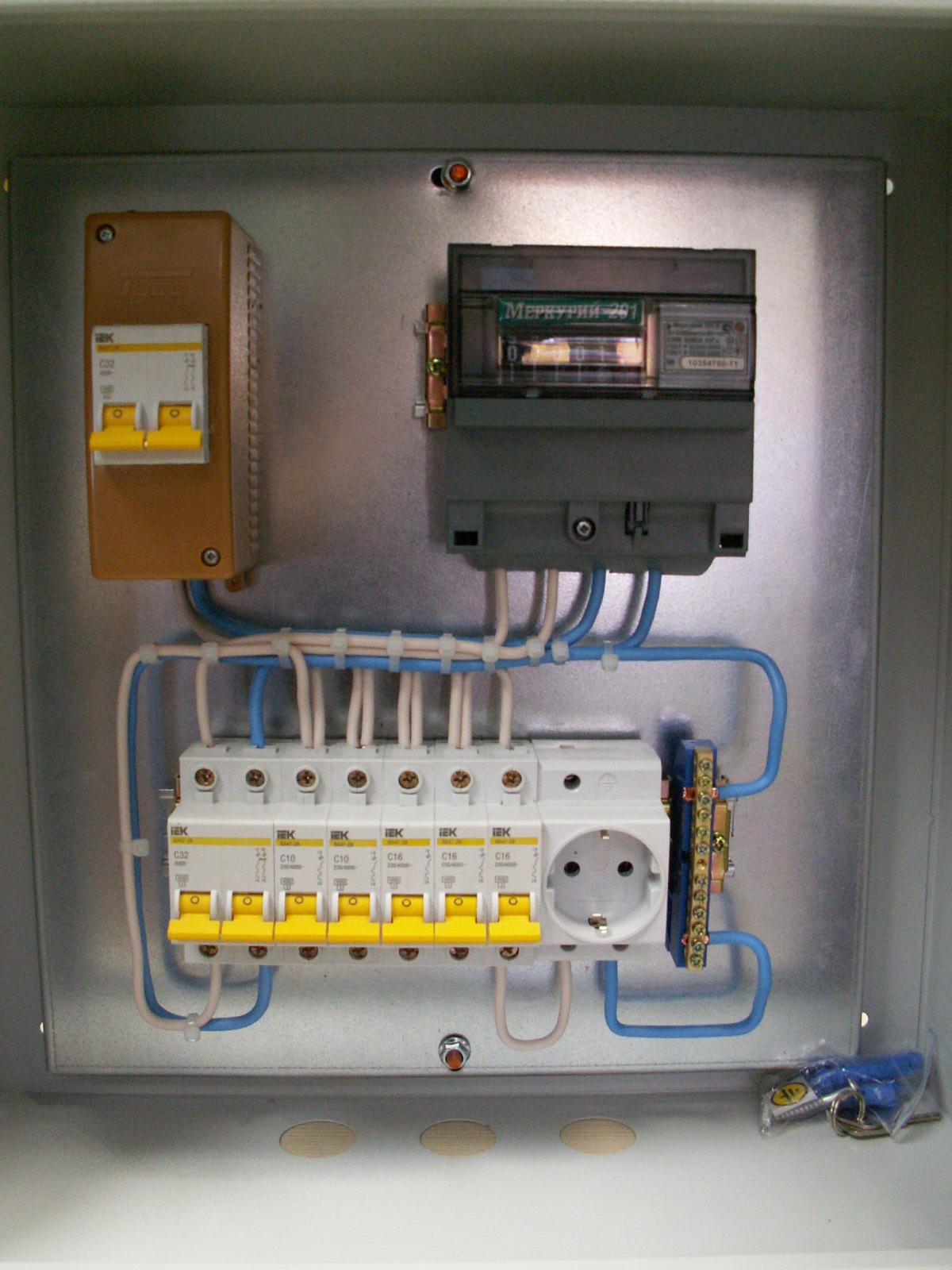 Сборка электрощита в гараж на 220 вольт своими руками 49