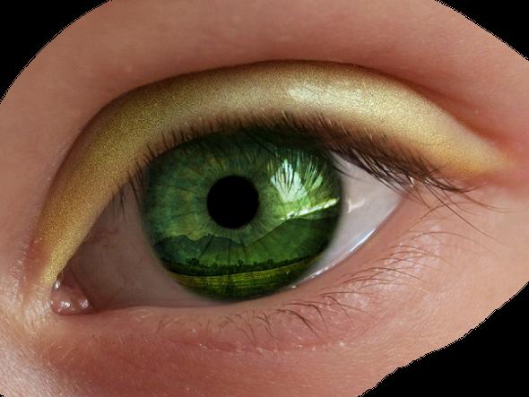 Как зеленые глаза сделать еще более зелеными