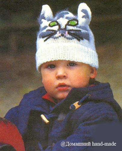 Детские вязанные шапочки.