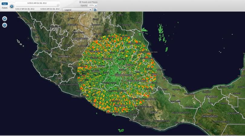 СРОЧНО !!! Фантастические аномалии на метео-радаре в Мексике в районе вулкана Попокатепетль