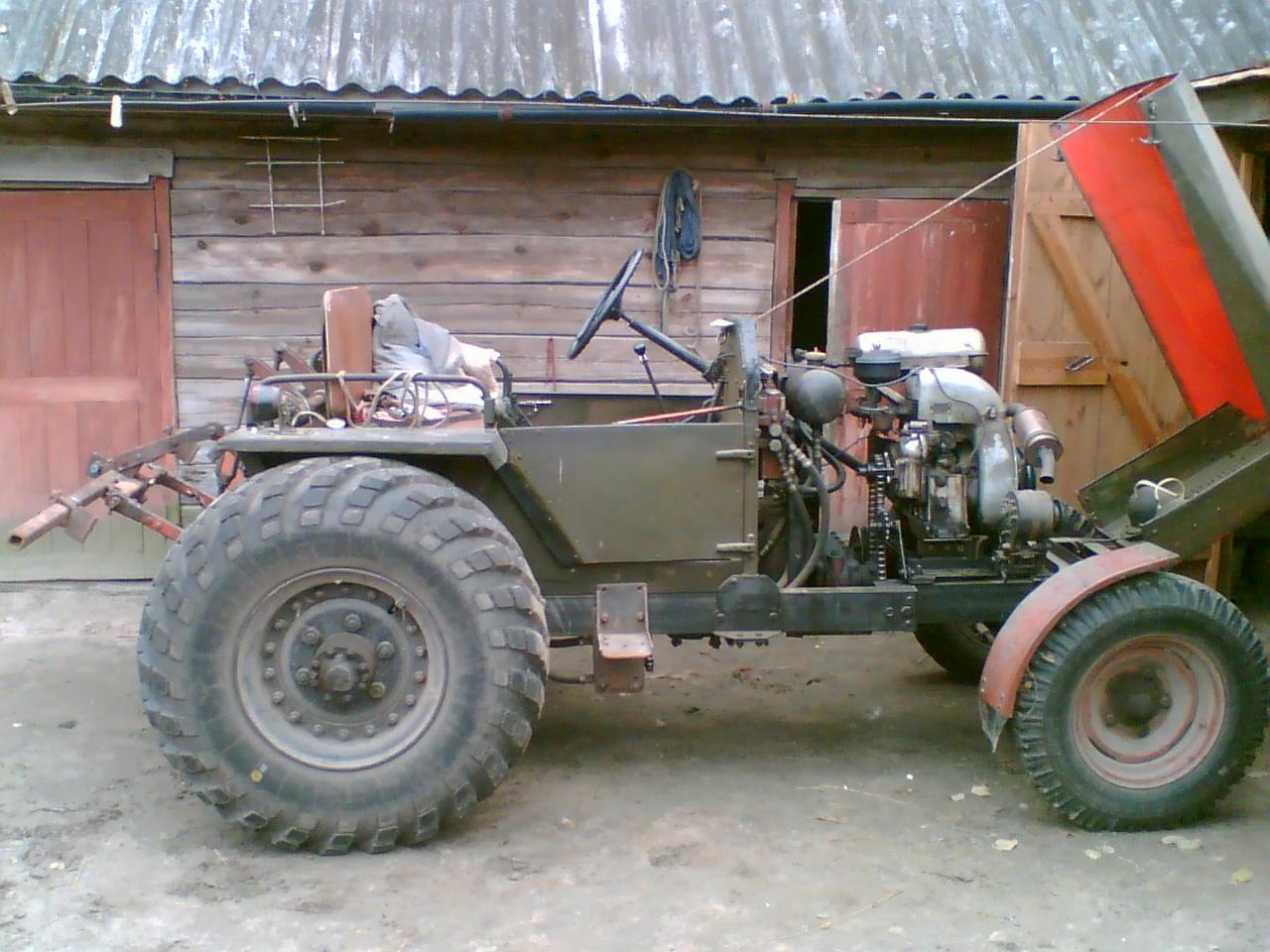 Как сделать трактор своими руками из газ 53