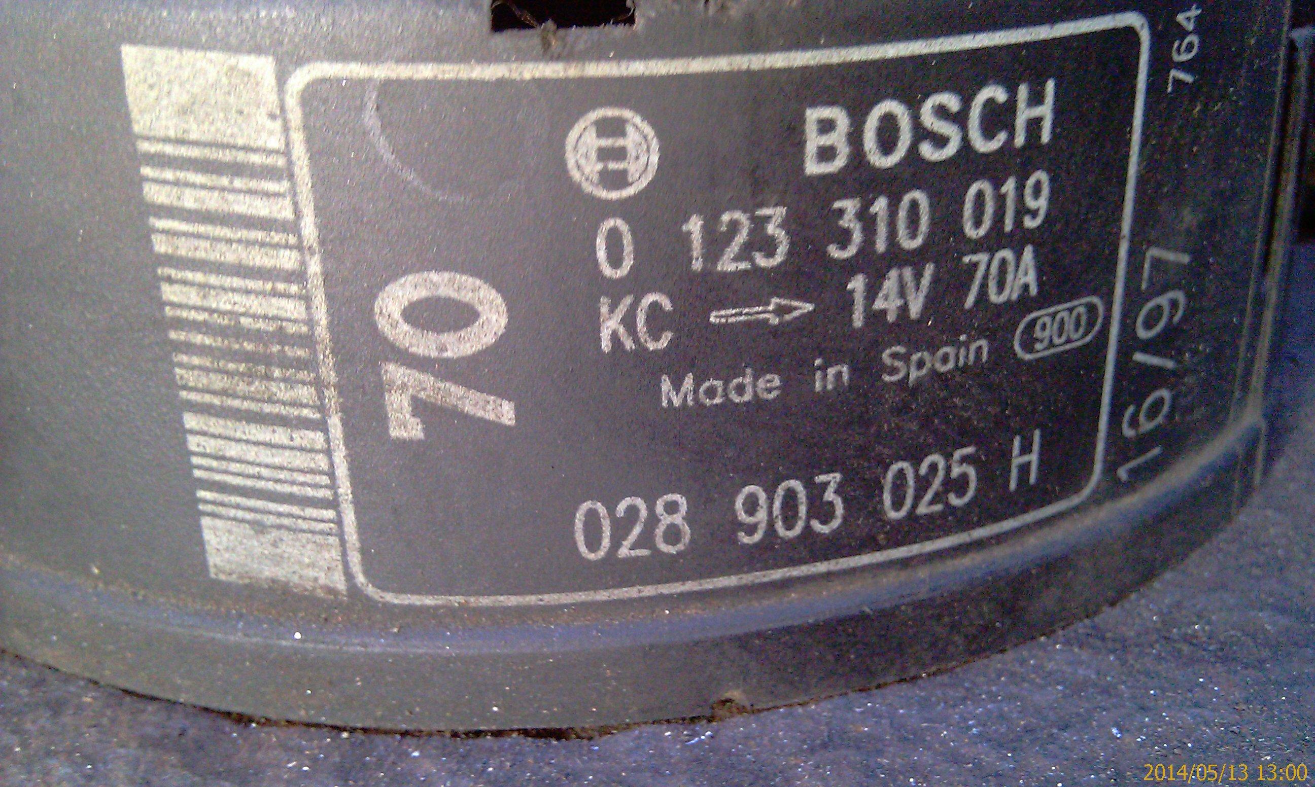 генератор bosch 70a схема