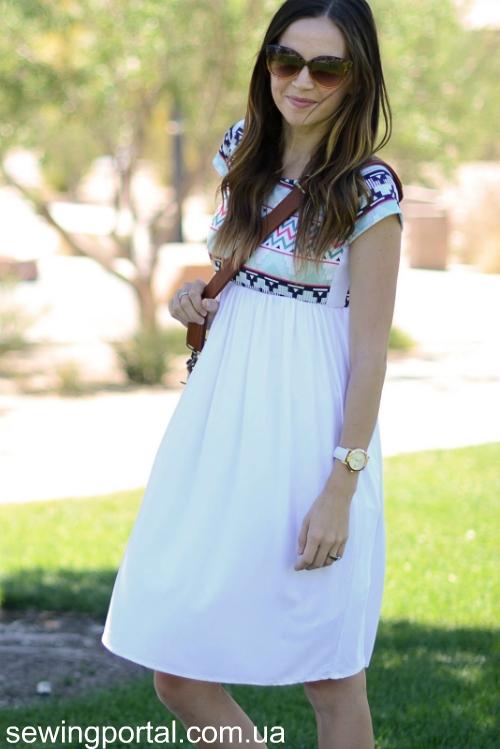 Простое летнее платье самой