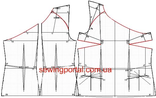 Как построить выкройку платья с рукавом реглан фото 106