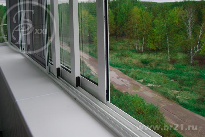Остекление балкона provedal c640 раздвижные..