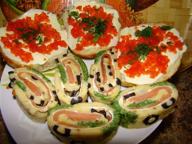 закуски рулеты бутерброды фоторецепты