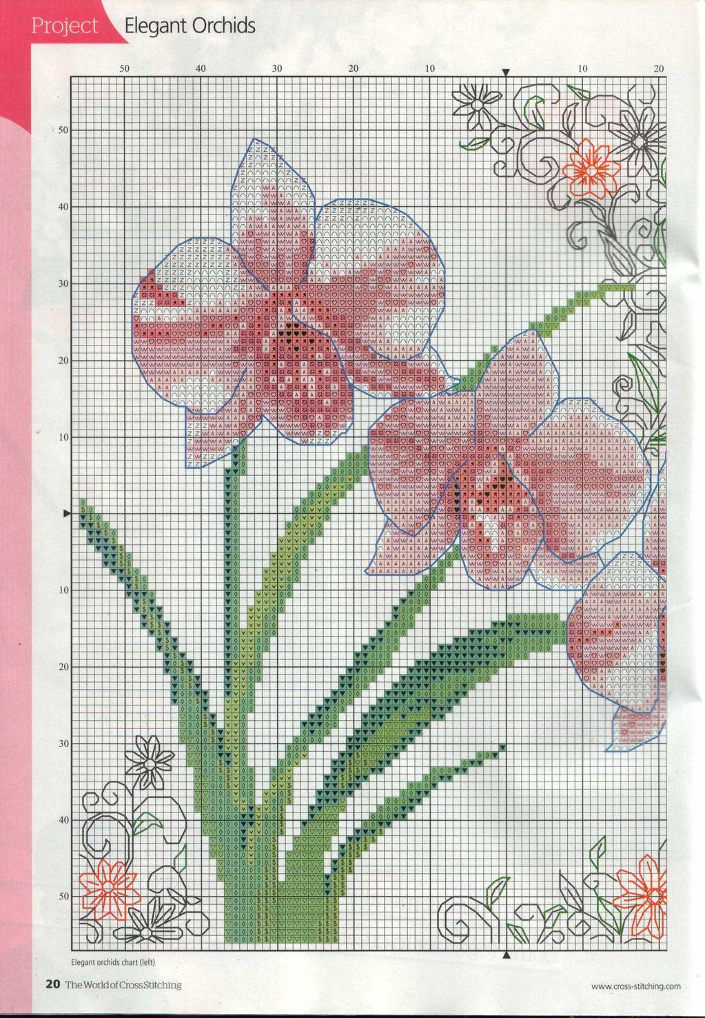 Скачать схему - Цветы, флора 44