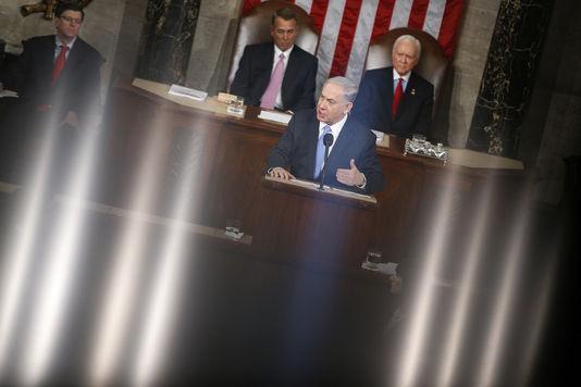 Benjamin Netanjahu vor dem us-Kongress am dienstag, den 3. märz.