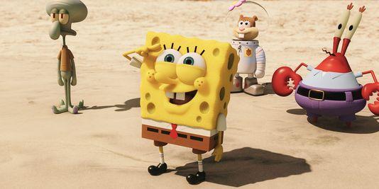 spongebob, Sandy Ecureuil und Mr Krabs den film amerikanischen von Paul Tibbitt.
