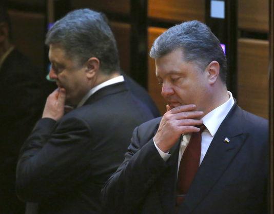 der präsident Der ukraine Petro Poroschenko, nach den diskussionen des friedens in Minsk donnerstag, dem 12.