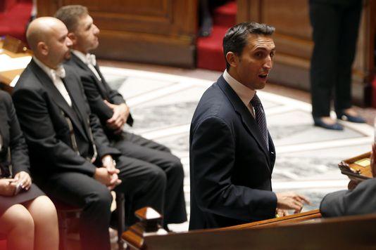 UMP-abgeordneter Julien Aubert (Vaucluse), in der Versammlung am 8. oktober.