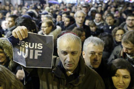 Veranstaltung der jüdischen gemeinde am ende des schabbat, samstag, 10 januar, porte de Vincennes in Paris.