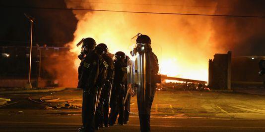 In den straßen von Ferguson, den 24. november.