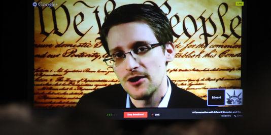 ex-berater der Agentur für nationale sicherheit der usa Edward Snowden ausdrückt, von Russland, dem Festival high-tech-Austin, den 10.