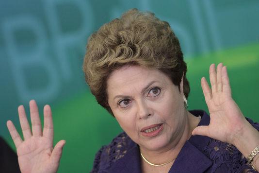 Der brasilianischen präsidentin Dilma Rousseff in Brasília, den 22. dezember 2014.