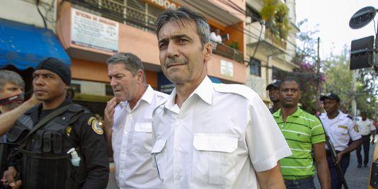 """Pascal Fauret und Bruno Odos, fahrer und beifahrer des fluges den spitznamen """"Air Kokain"""" in santo Domingo im april 2014."""