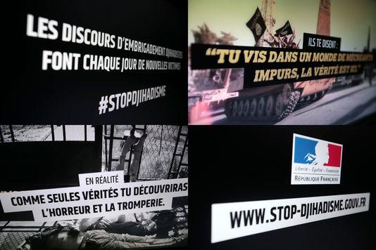 Plakate der kampagne gegen den dschihadismus, von der regierung eingeleitete januar 2015.