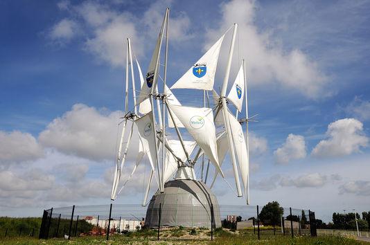 der erste prototyp Der wind zu segeln, eröffnet im juni 2013 in Grande-Synthe, in der nähe von Dunkerque.