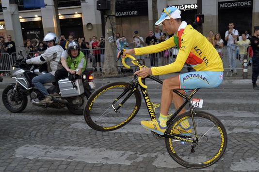 Sogar auf einem rad, Vincenzo Nibali würde gewann die Tour de France 2014.
