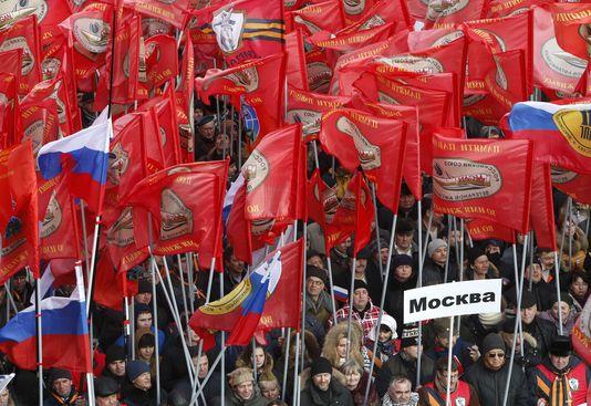 Die demonstration gegen Maidan, Moskau, sammelte 35 000 personen, abhängig von der polizei.