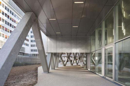 Die lobby gemeinsamen Home für die beiden programme des sozialen wohnungsbaus und beitritt (Paris 13e).