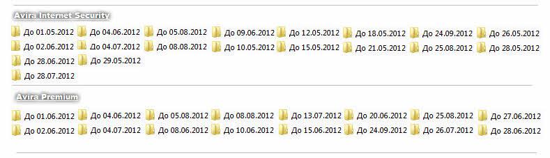 Лицензии для продуктов Avira обновлены от 16 апреля 2012г. Скачать