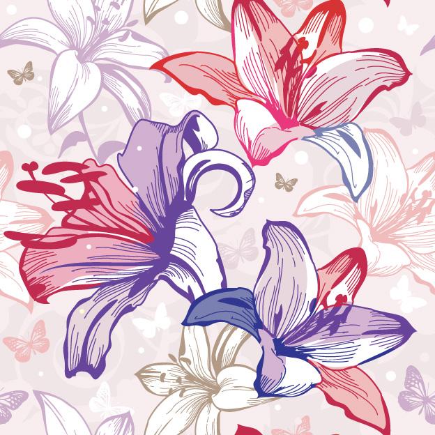 Стилизованные лилии картинки