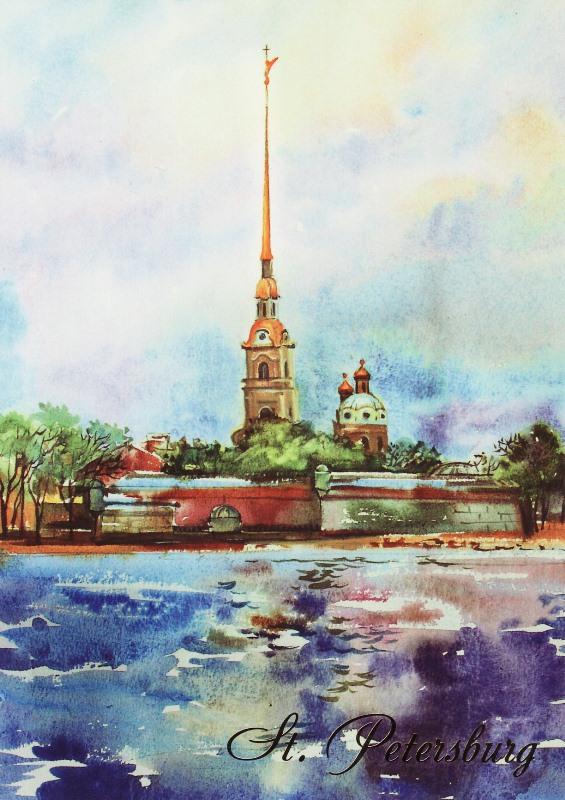 Петропавловская крепость открытки