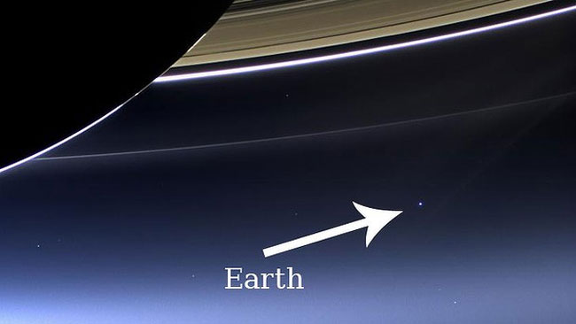 earth from saturn - 650×366