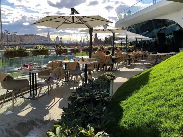 фото: Уличные зонты для летних веранд, кафе и ресторанов – оптимальное решение для защиты от солнца