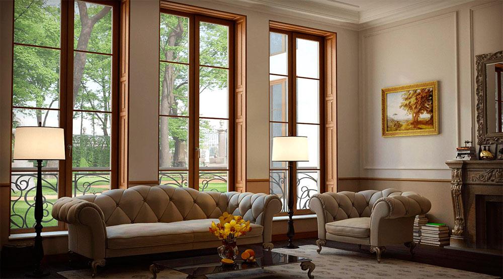 Деревянные окна, подоконники и откосы - оформление оконного проема